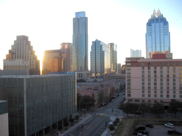 Skyline view of downtown Austin
