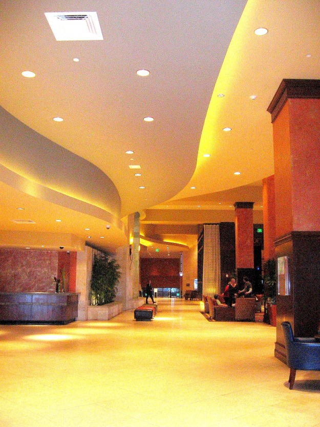 Lobby of the Hilton in Austin, Texas