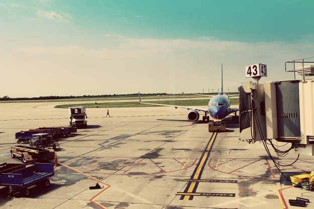 Southwest plane at Kansas City International Airport